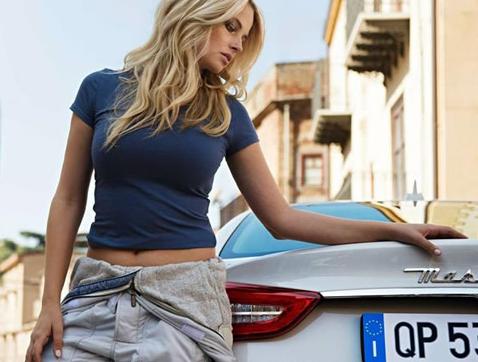 La modelo Genevieve Morton es la nueva embajadora de Maserati