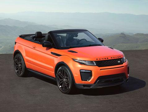 El Range Rover Evoque Convertible: el primer SUV Compacto Premium Convertible del mundo