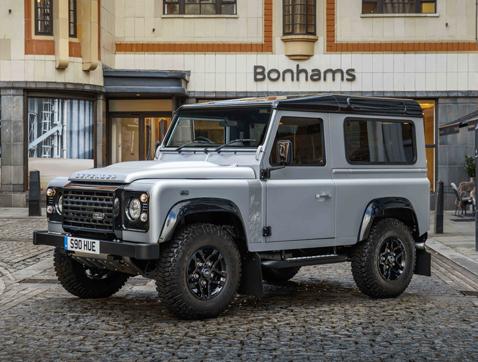 El Land Rover Defender 2 millones es el protagonista de una exposición antes de su subasta en Londres