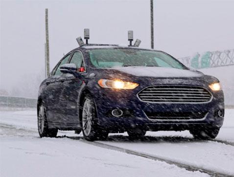 Ford lleva a cabo las primeras pruebas de vehículos autónomos en la nieve