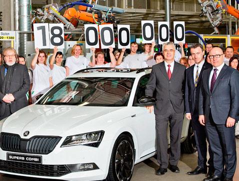 Nuevo récord: SKODA  alcanza los 18 millones de vehículos producidos