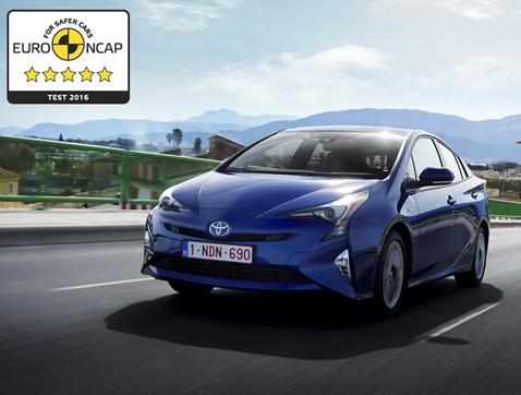 El nuevo Toyota Prius consigue 5 estrellas Euro NCAP
