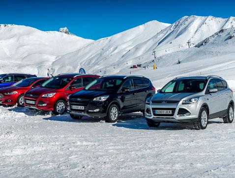 Los clientes de Ford ponen a prueba la gama de tracción total a 2.000 metros de altura