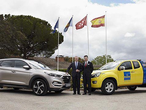 Hyundai firma un acuerdo de asistencia 24 horas con el RACE