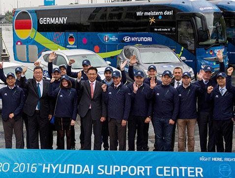 Hyundai cede vehículos de apoyo para la UEFA EURO 2016 ™