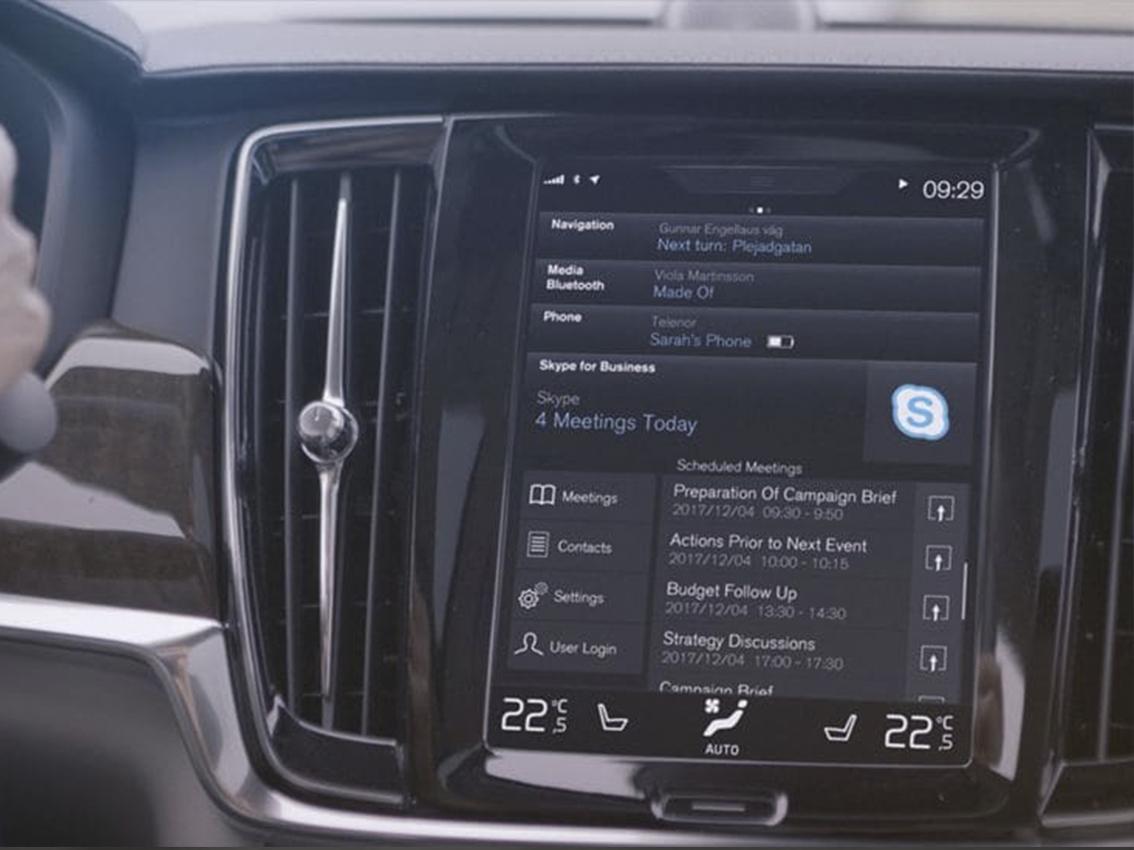 Llega Skype for Business, una nueva era para la productividad en el interior del vehículo