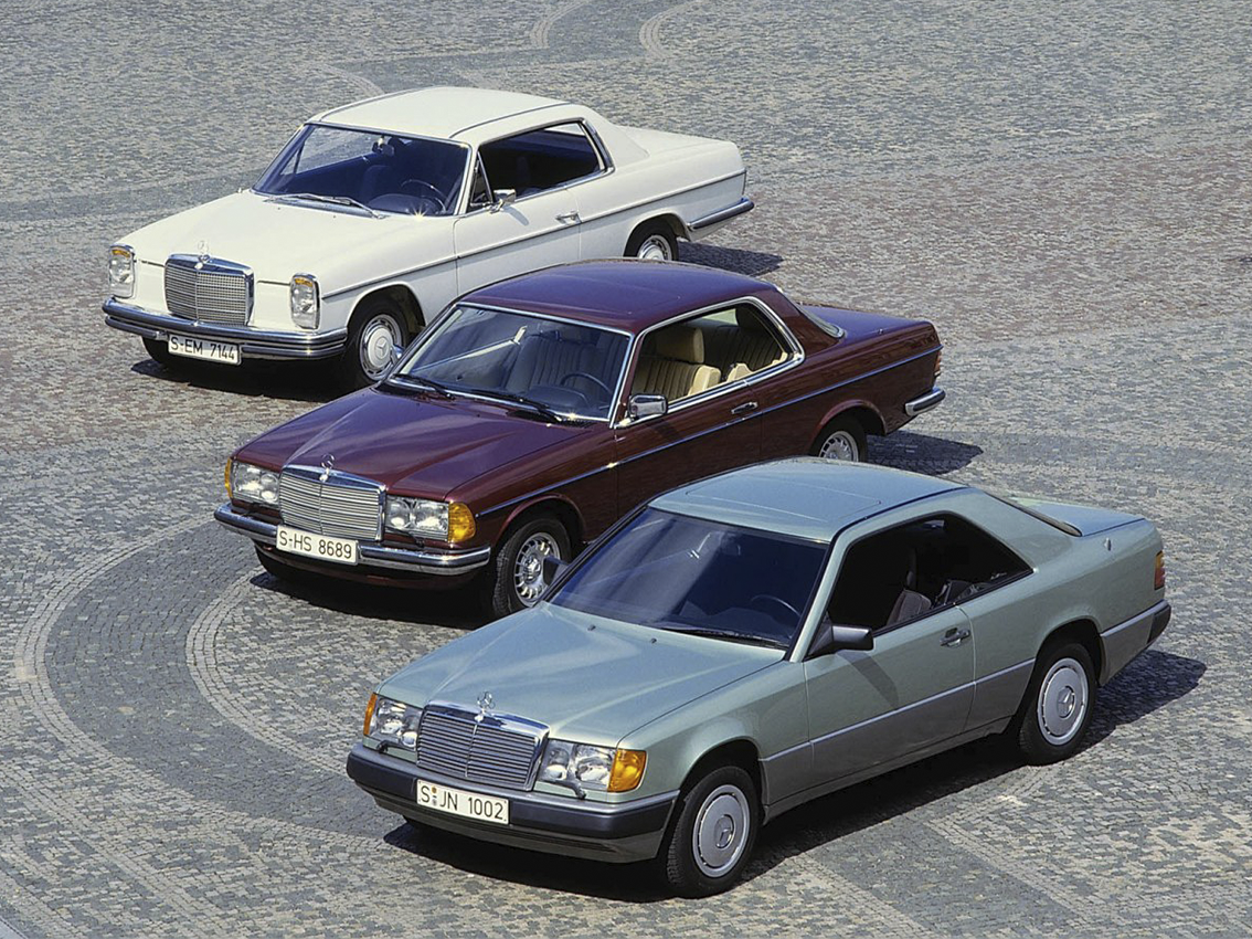 Cuatro décadas de puros coupé de Mercedes-Benz