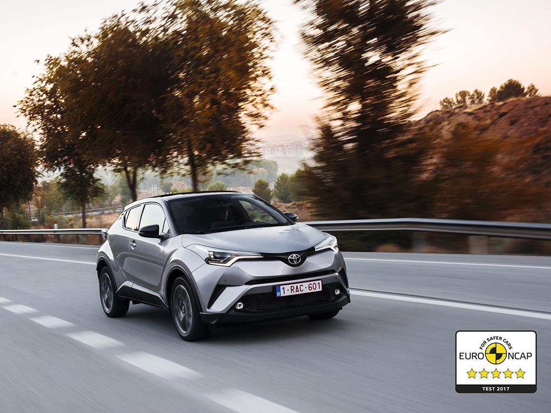 Nuevo Toyota C-HR: cinco estrellas Euro NCAP
