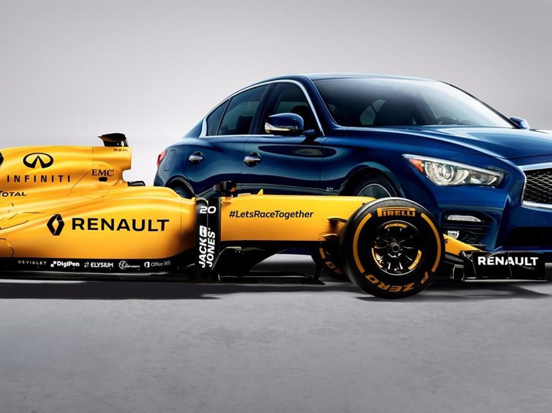 Infiniti aumenta su participación en el Renaut Formula 1 Team