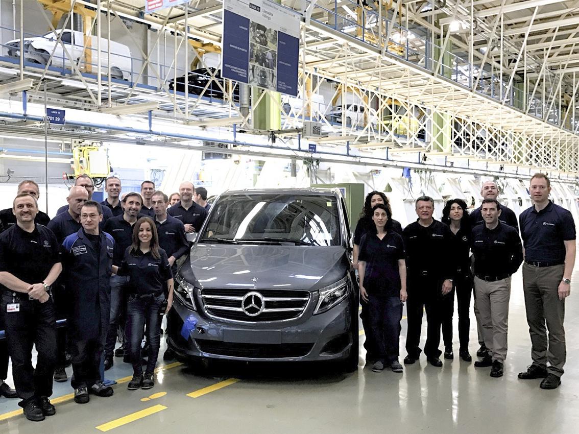 La planta de Mercedes-Benz en Vitoria produce el modelo 100.000 del V-Class