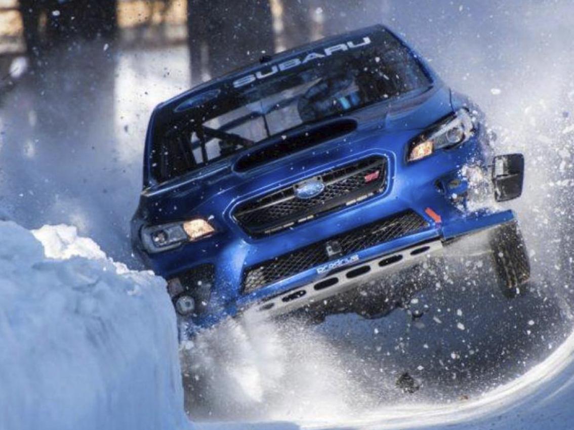 Mark Higgins en su último reto a bordo de un Subaru
