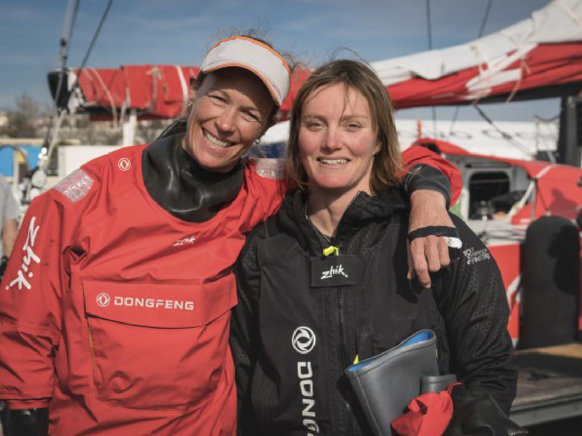 Riou y Brouwer, primeras mujeres en la Volvo Ocean Race 2017