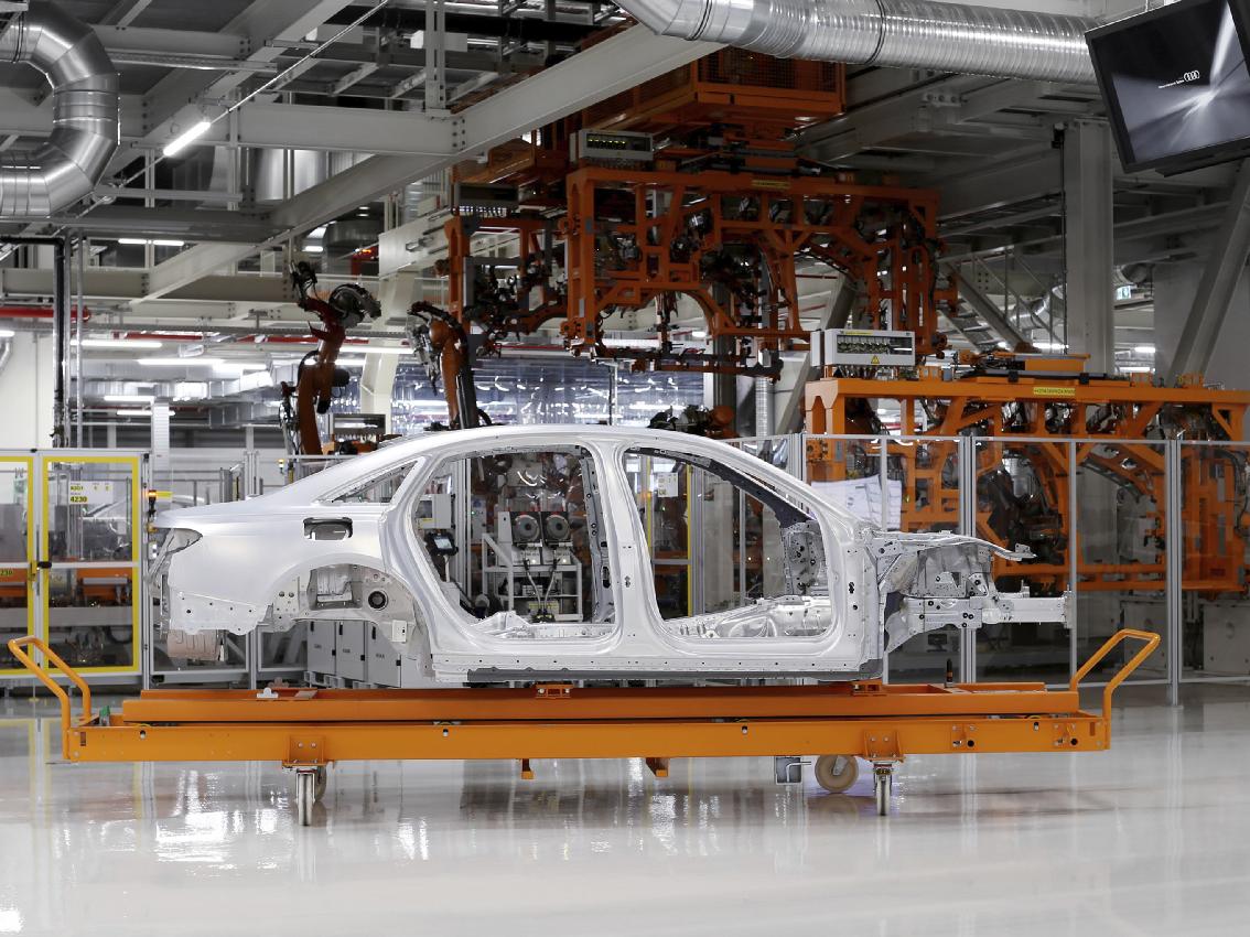 La carrocería del nuevo Audi A8: Space Frame con una combinación exclusiva de materiales