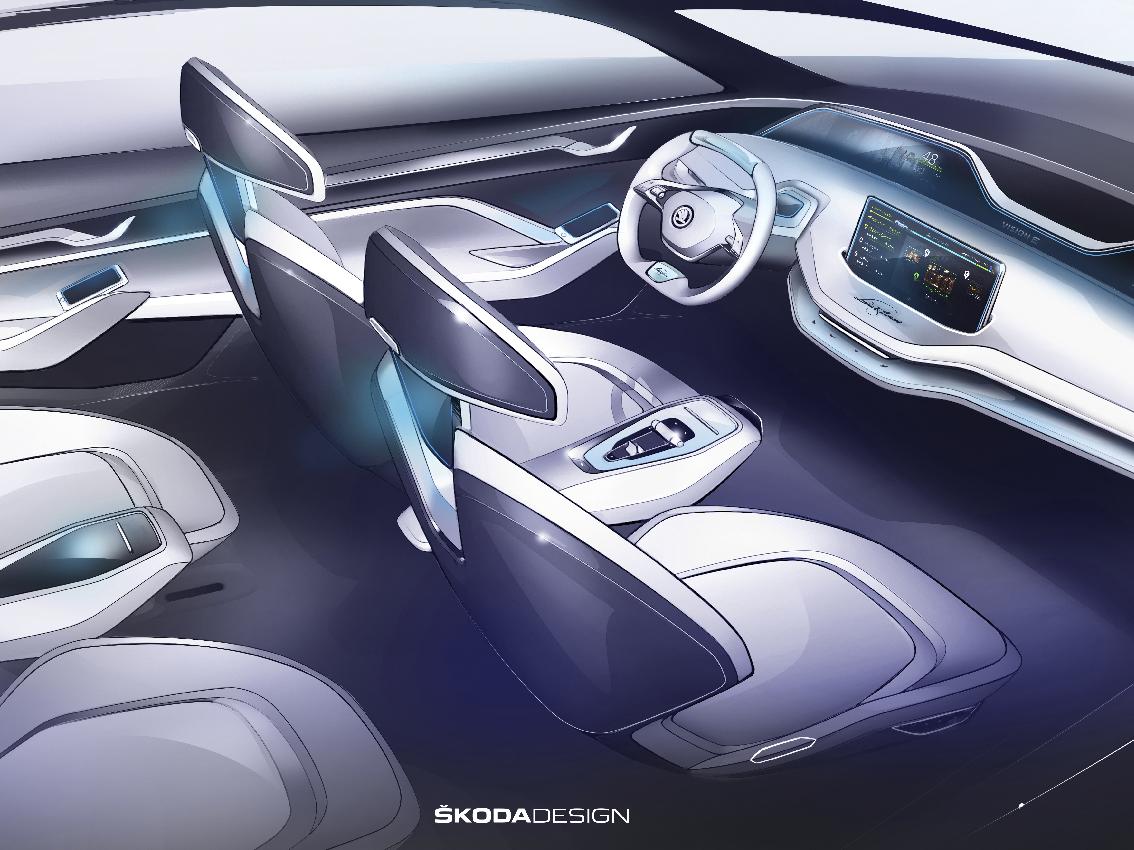 Skoda presenta el interior del Vision E