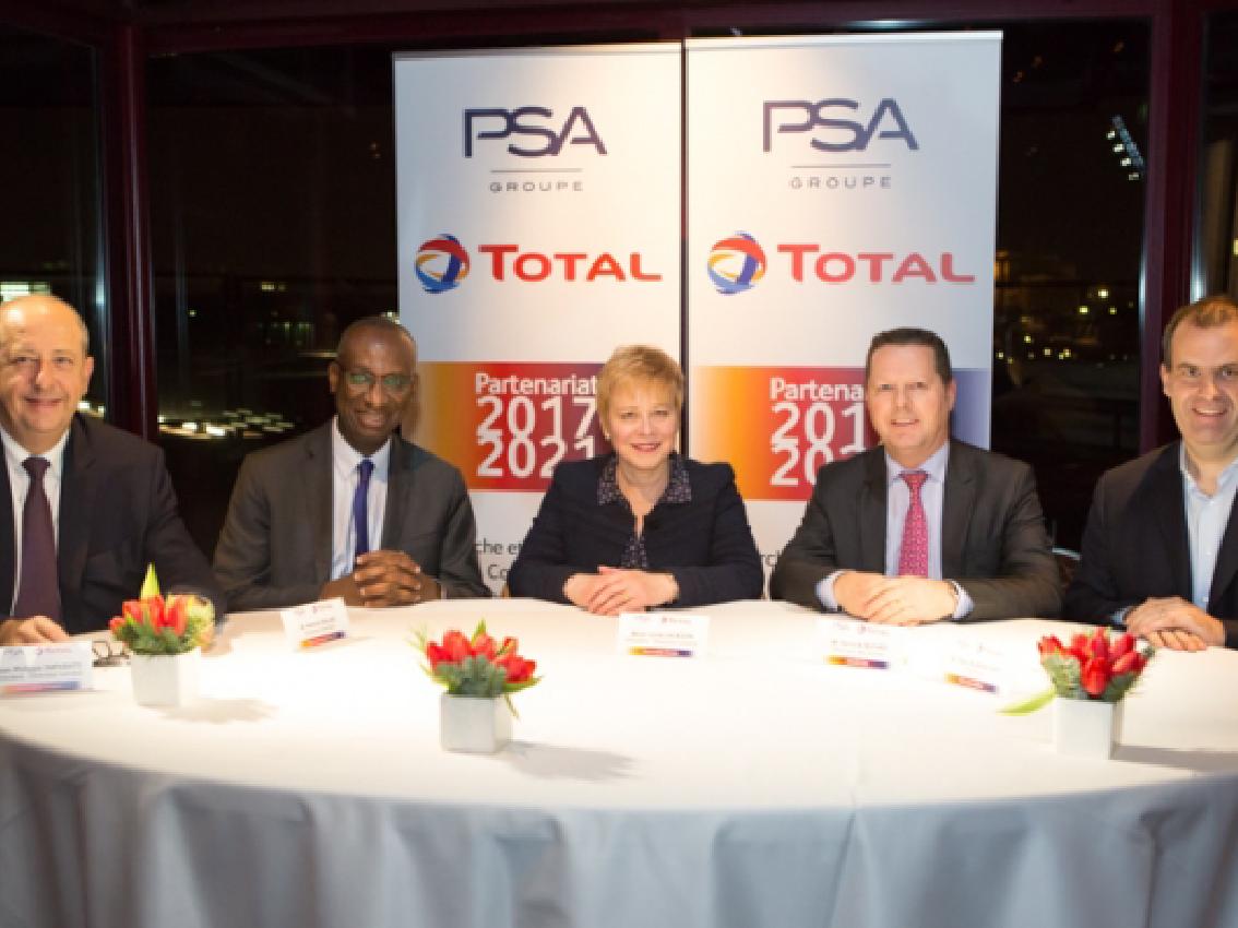El Grupo PSA y Total renuevan su colaboración