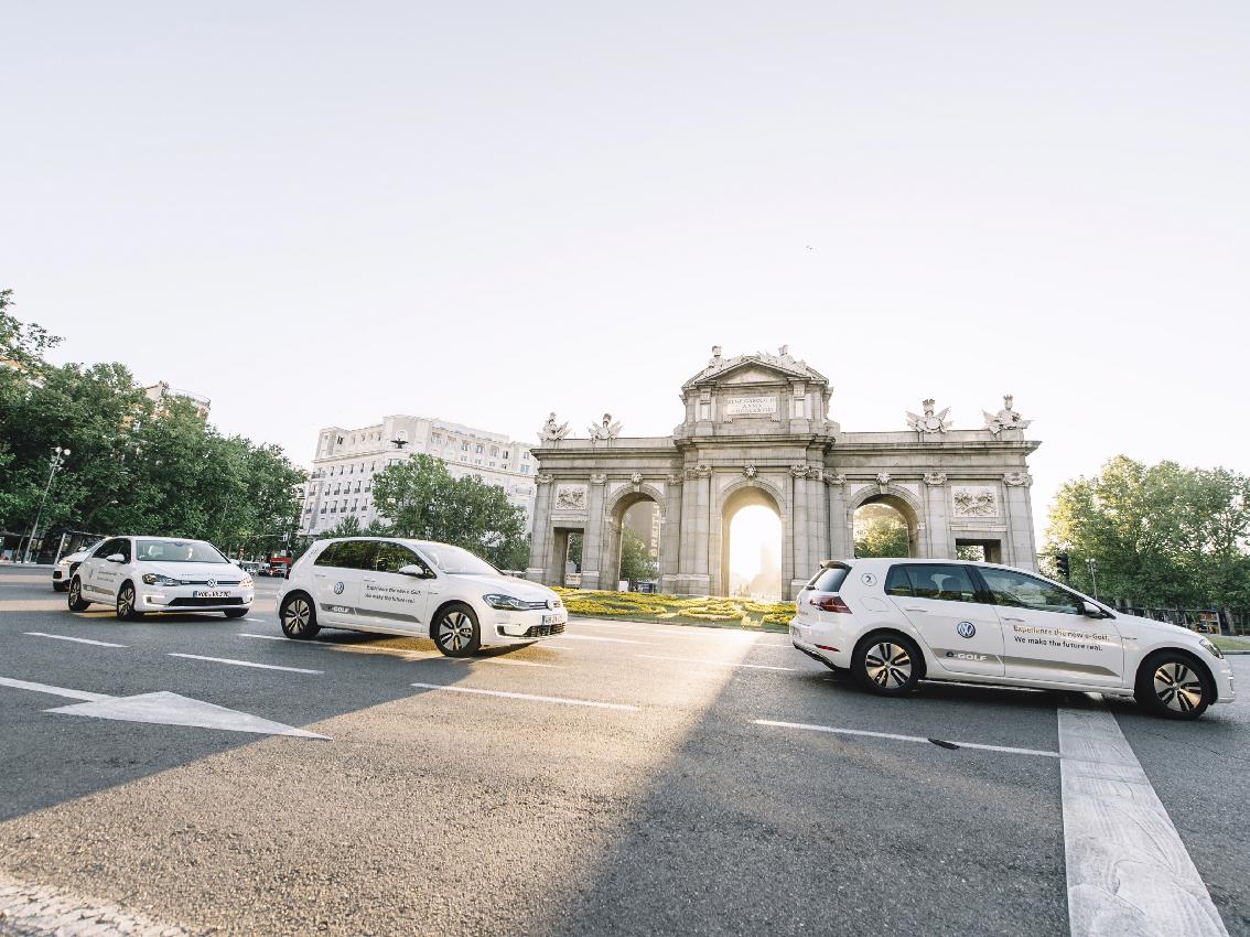 El nuevo E-Golf llega a Madrid