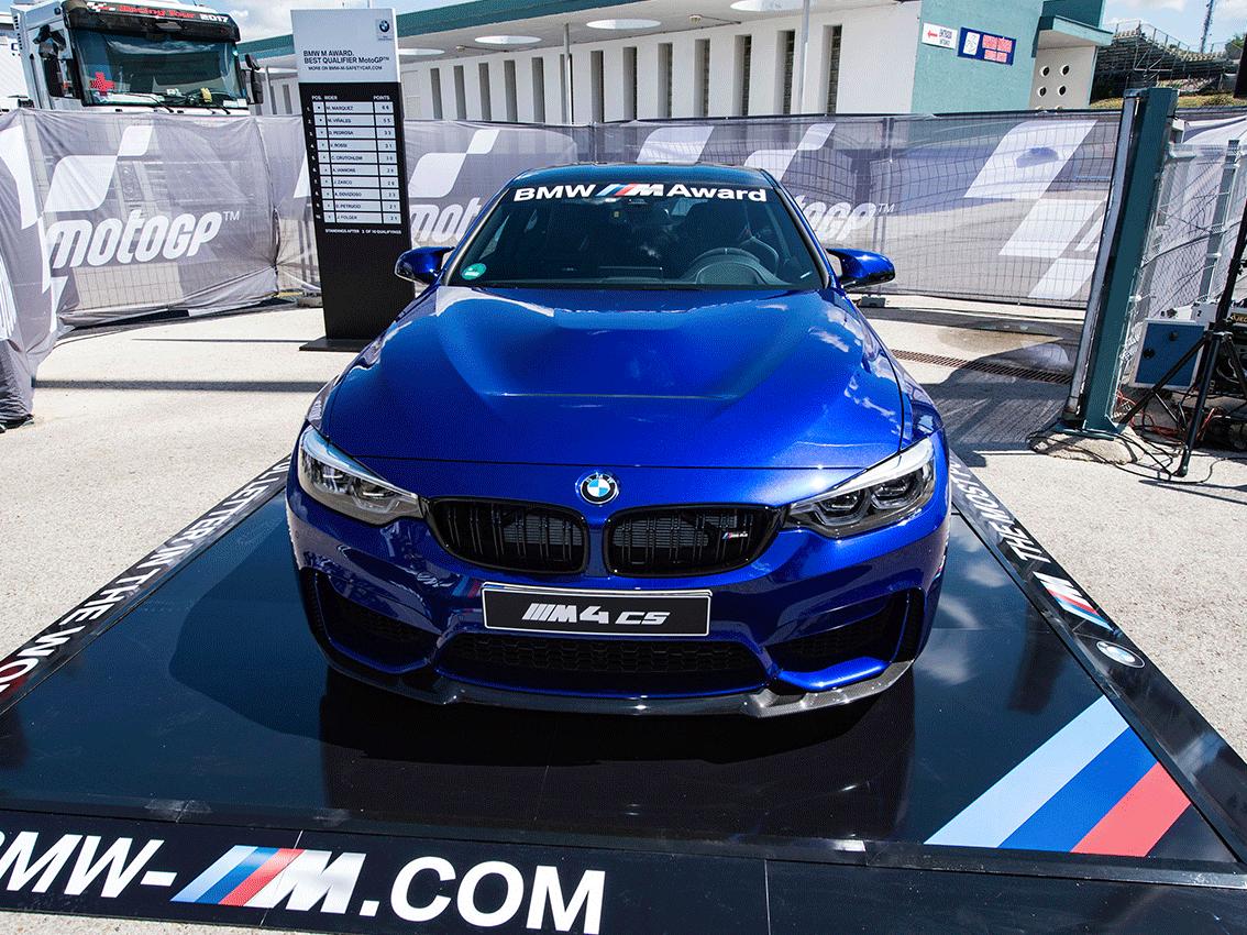 El nuevo BMW M4 CS será el premio para el mejor piloto en clasificación de Moto GT