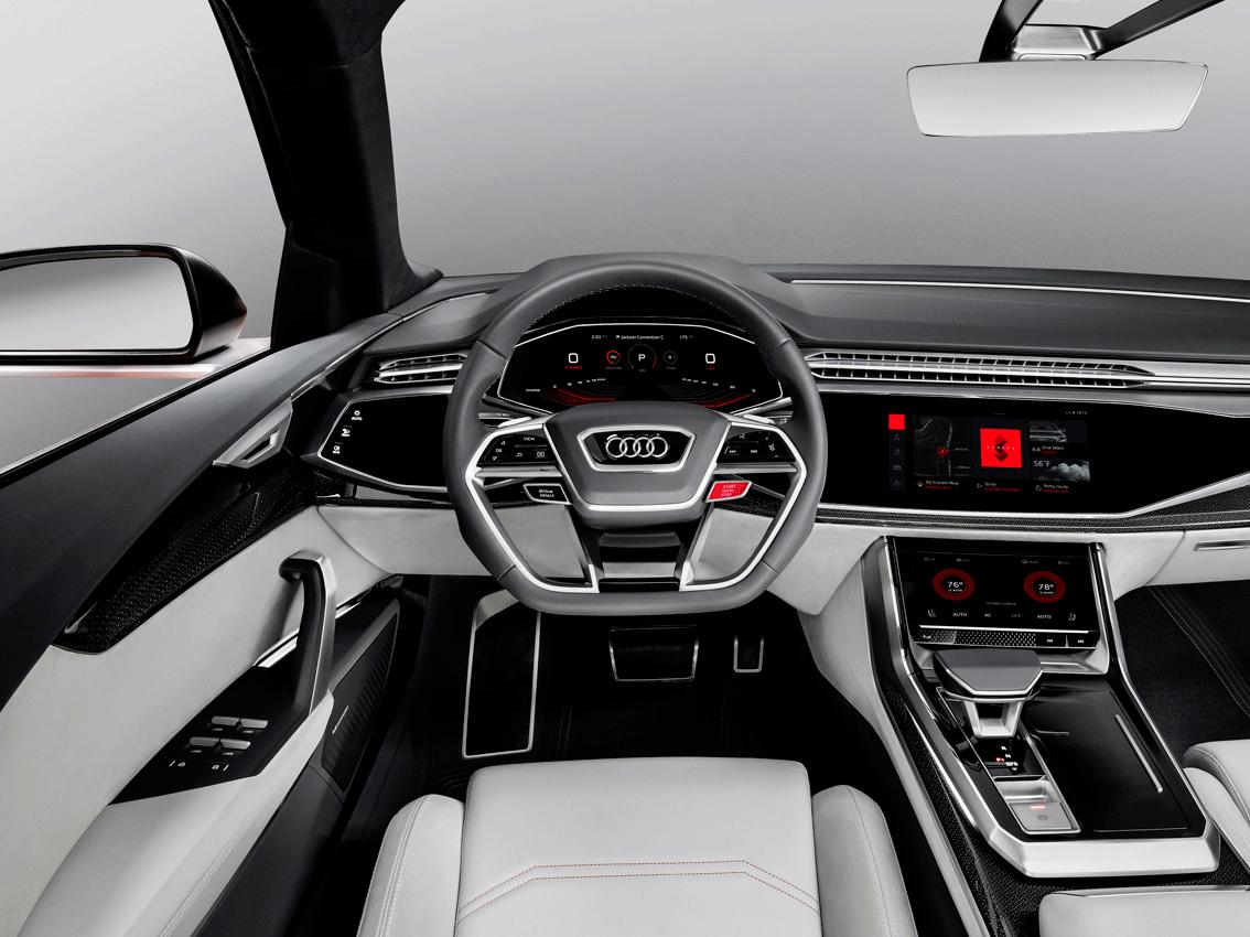 Audi muestra el sistema operativo Android integrado en el Audi Q8 sport concep