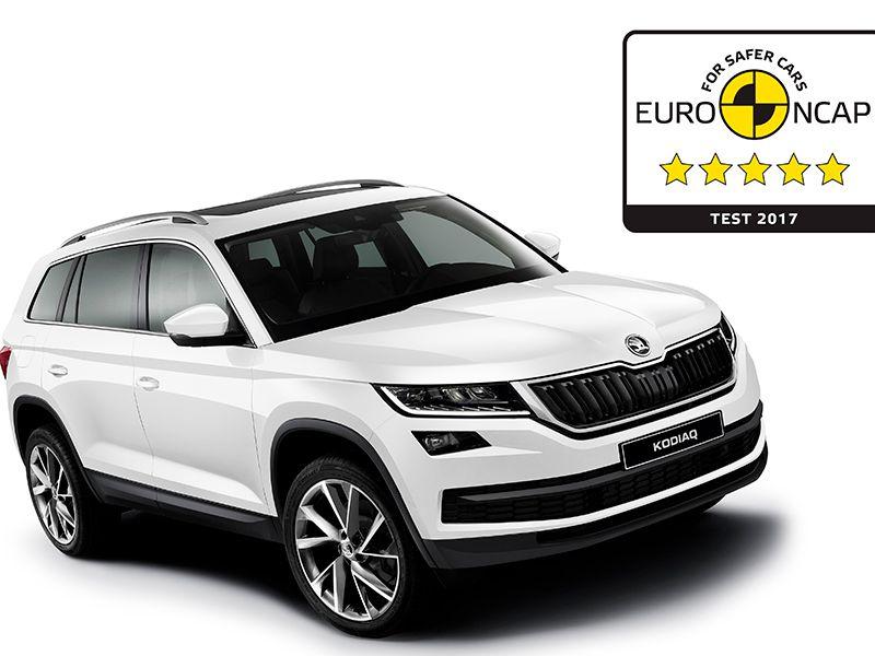 El ŠKODA KODIAQ recibe 5 estrellas en la puntuación general de seguridad del Euro NCAP