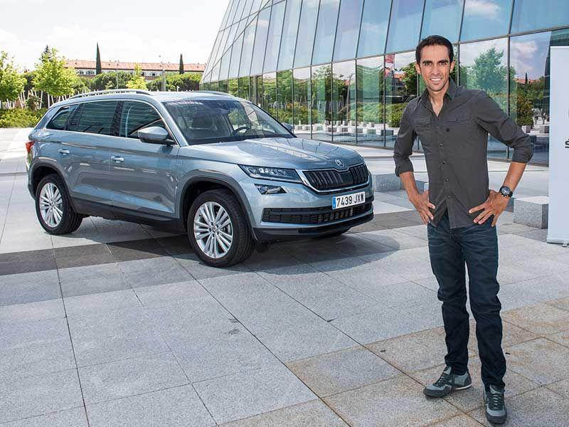 Alberto Contador ya tiene su Skoda Kodiaq