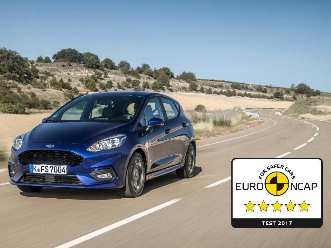 El nuevo Ford Fiesta logra cinco estrellas EURO NCAP en materia de seguridad