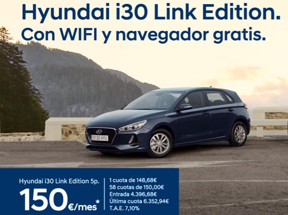 Nueva Serie Especial Hyundai i30 LINK con Navegador y WIFI Gratis