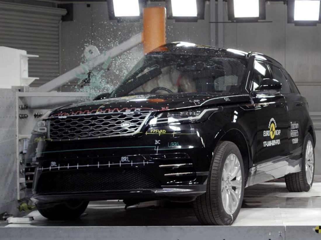 Range Rover Velar consigue la máxima puntuación en las pruebas de EuroNCAP