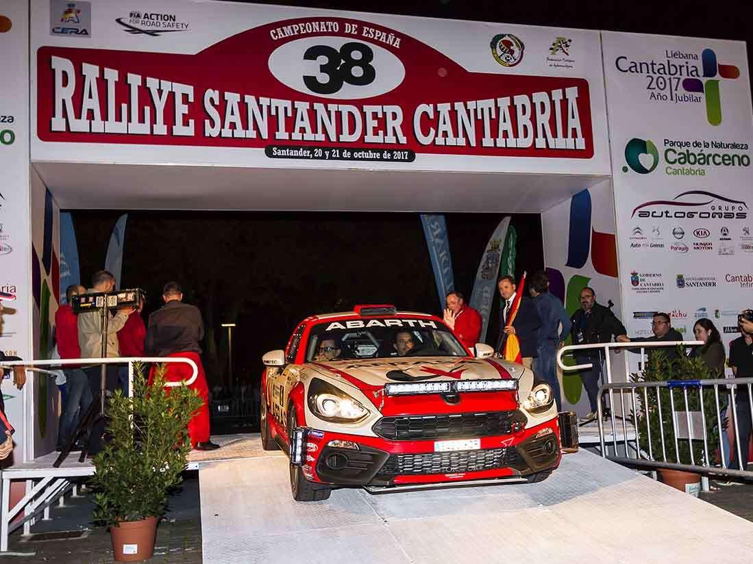 El Abarth 124 Rally se mantiene como aspirante a ganar el Trofeo de España de Dos Ruedas Motrices (2RM)