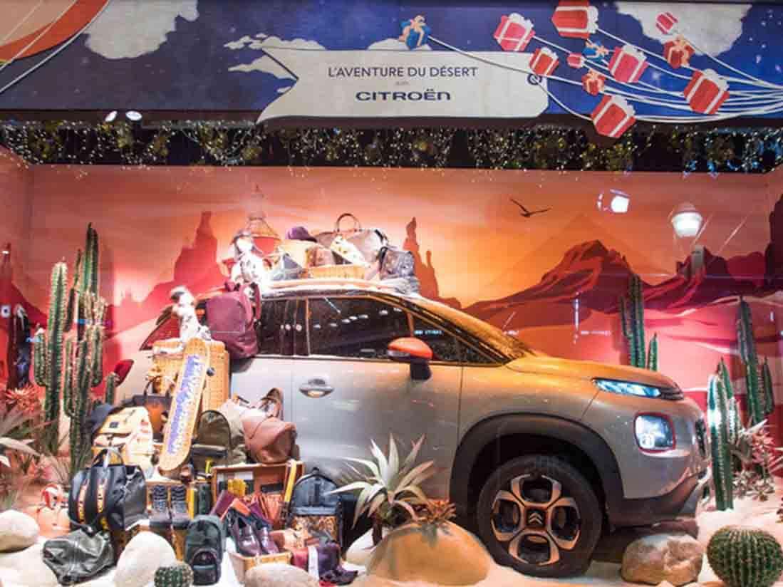 El Citroën C3 Aircross celebra la magia de la navidad en Paris