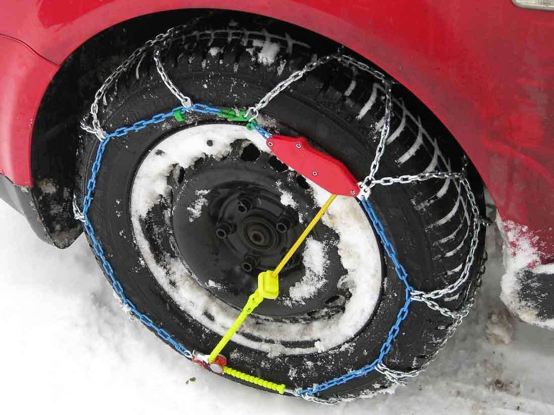 5 pasos para colocar las cadenas en los neumáticos