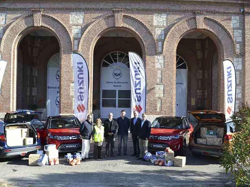 Suzuki entrega 2.000 kilos de comida a Banco de Alimentos de Madrid con la 2ª edición de Litros x Kilos