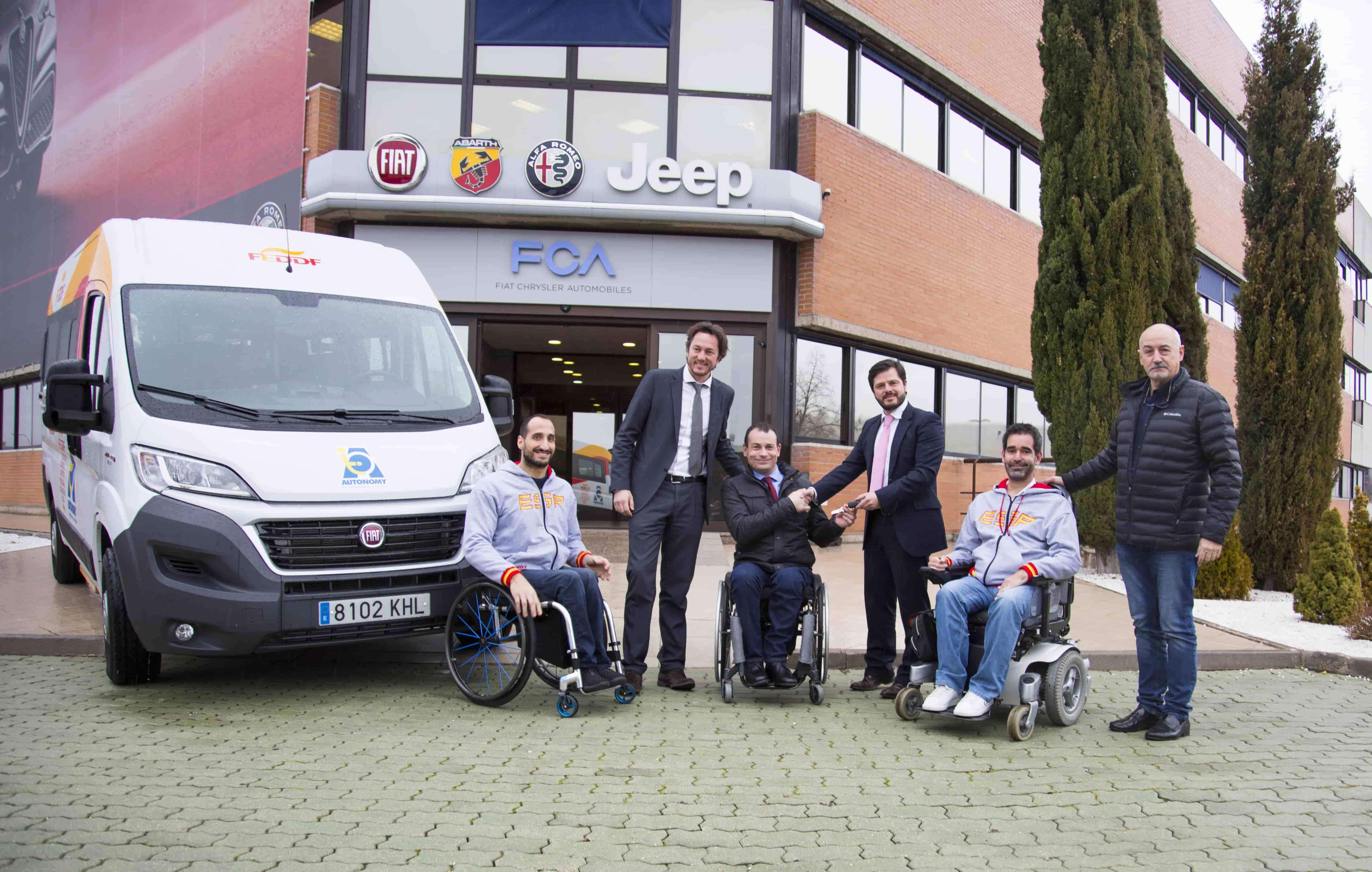 FCA AUTONOMY con la Federación Española de Discapacidad Física