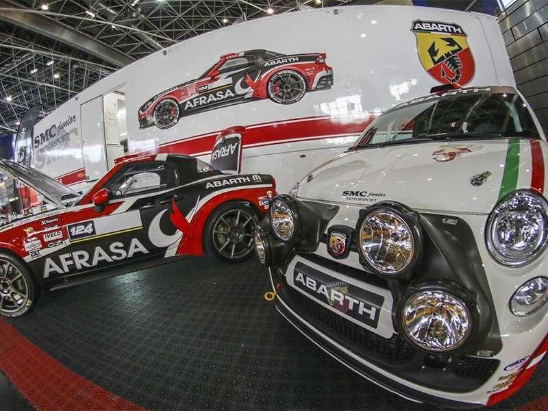La marca Abarth brilló en el Salón del Automóvil de Competición AUTORACING
