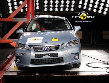El Lexus CT 200h roza la perfección en materia de seguridad.