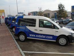 Huertas Motor entrega una flota de vehículos Volkswagen a la empresa Sodelor