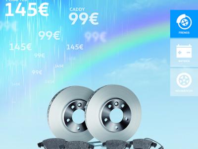 Cambiar los frenos, más fácil con Huertas Motor Volkswagen
