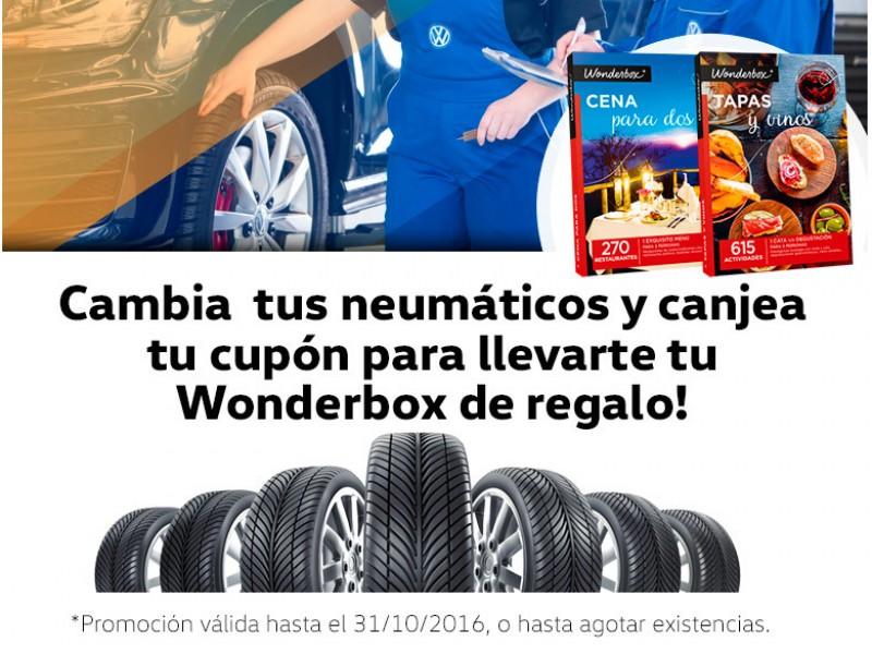 Cambie sus neumáticos y llévese un Wonderbox