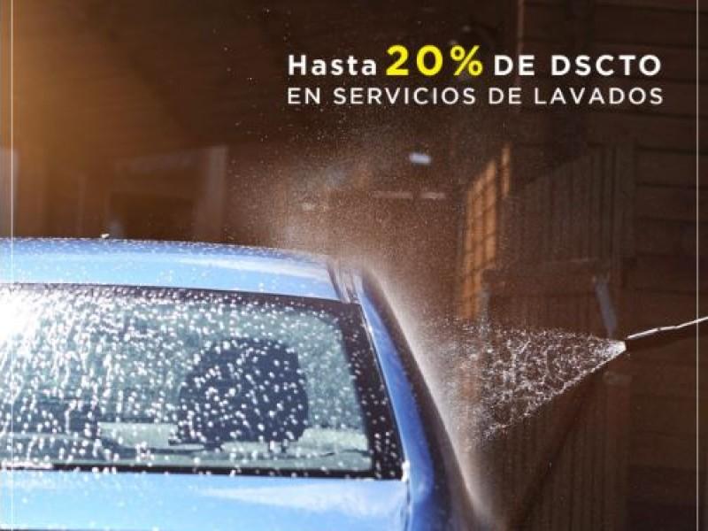 HASTA 20% DE DSCTO EN SERVICIOS DE LAVADO