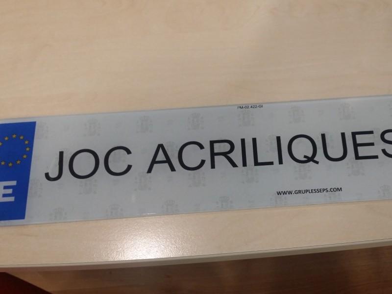 JUEGO PLACAS ACRÍLICAS 39€