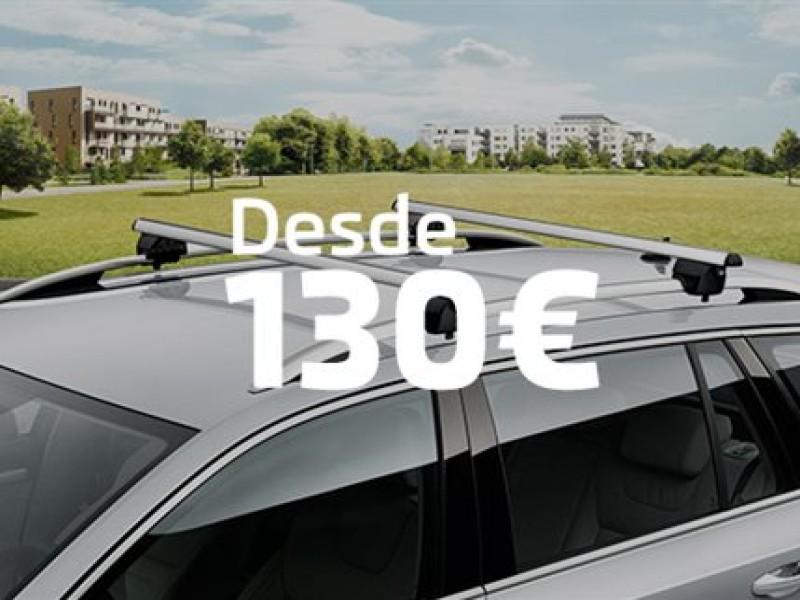 Barras transversales de techo desde 130€