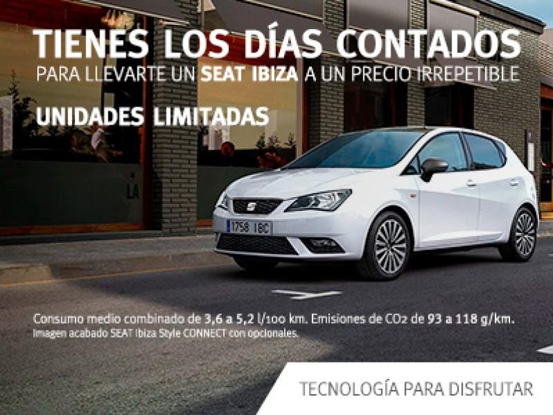 Tienes los días contados. SEAT Ibiza a un precio irrepetible.