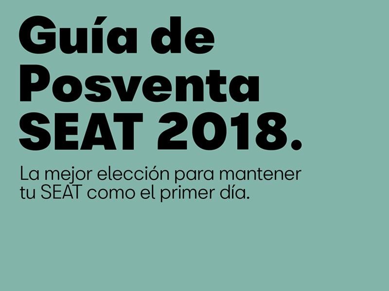 Guía de postventa SEAT 2018