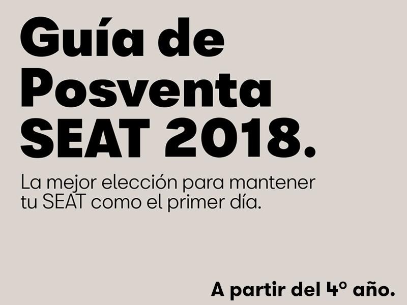 Guía de postventa SEAT 2018 a partir de 4 años
