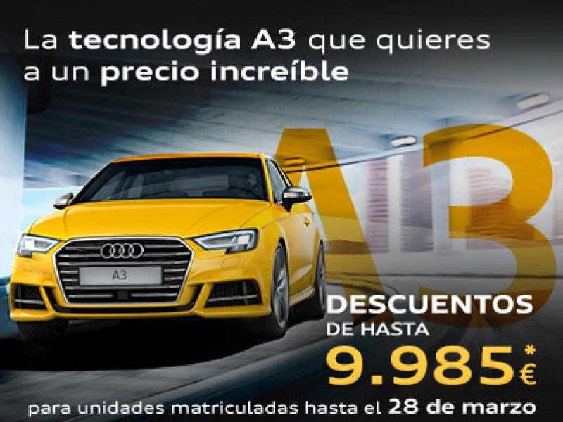 Stock limitado Audi A3. ¡Ahorra hasta 9.985€!