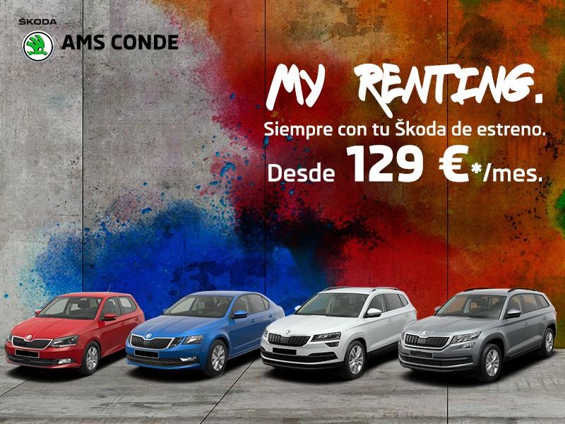 My Renting: Estrena Skoda desde 129€/mes