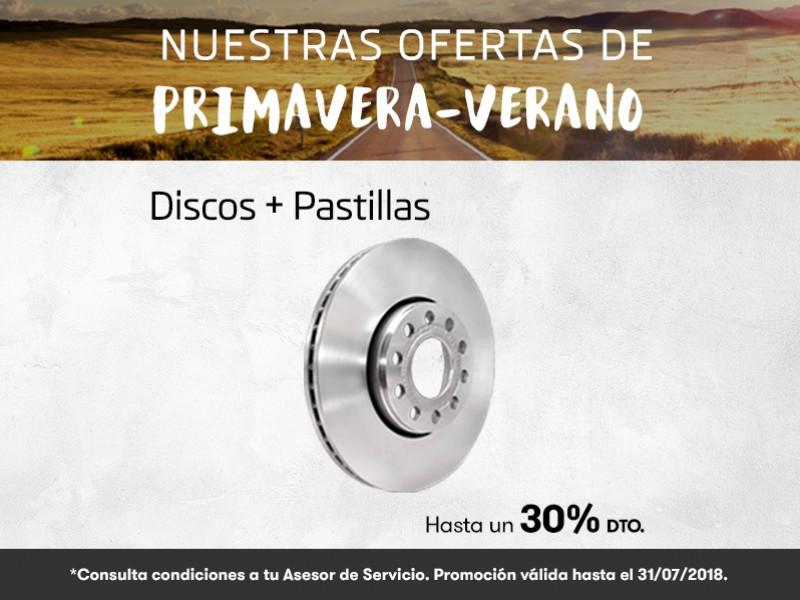 Oferta Primavera-Verano discos+pastillas hasta un 30% dto.