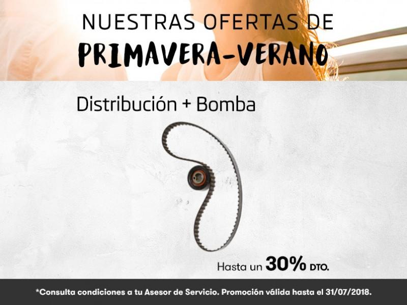 Oferta Primavera-Verano distribución hasta un 30% dto.