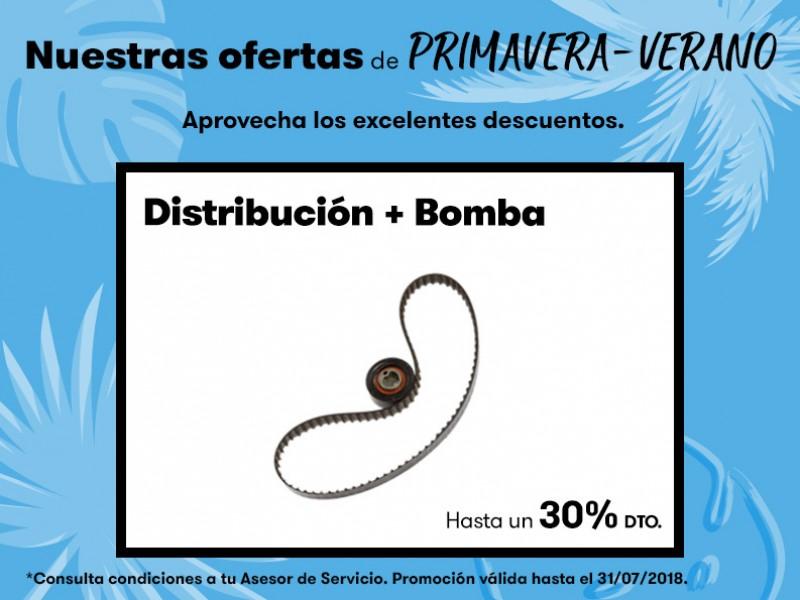 Oferta Primavera-Verano distribución+bomba hasta un 30% dto.