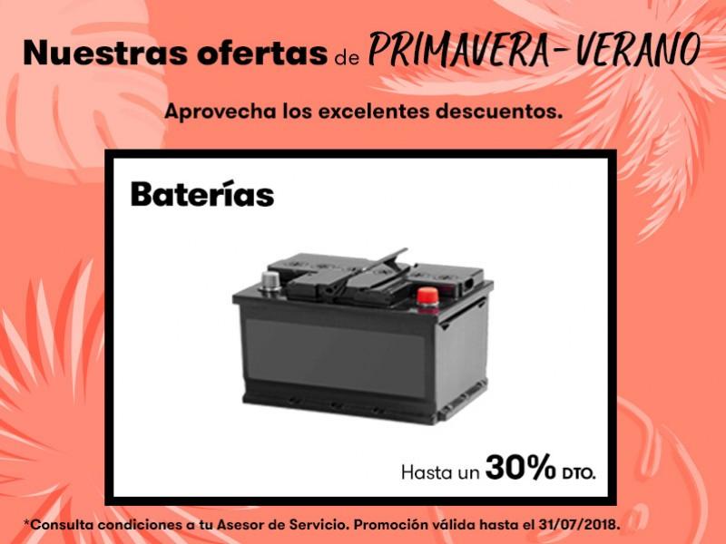 Oferta Primavera-Verano baterías hasta un 30% dto.