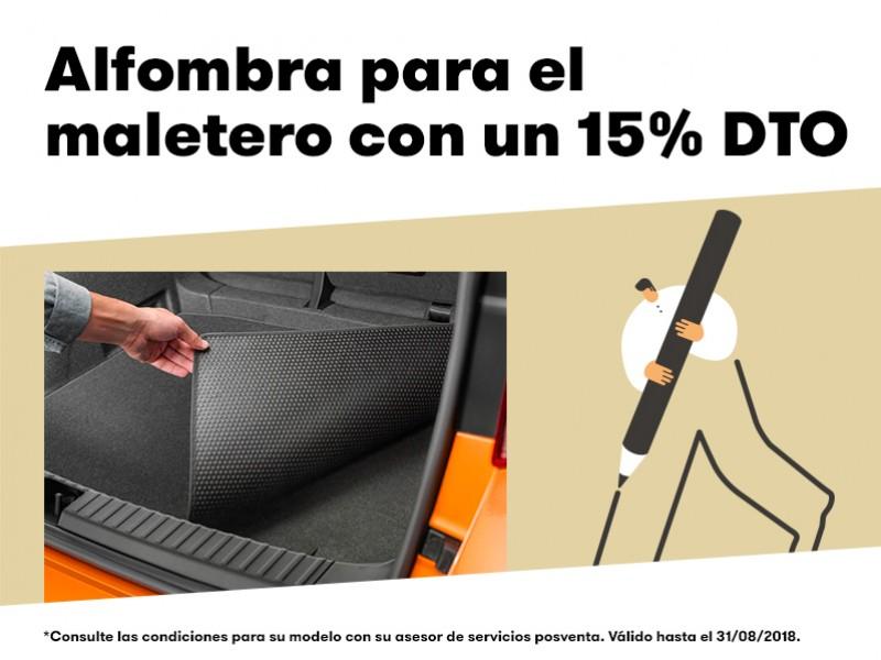 Alfombra para el maletero con un 15% de descuento